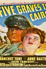 دانلود زیرنویس فیلم Five Graves to Cairo 1943